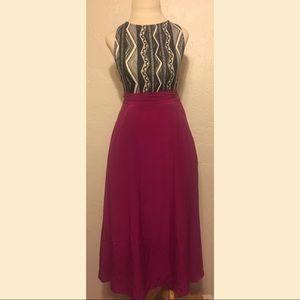 Vintage Talbots Pink Silk Skirt